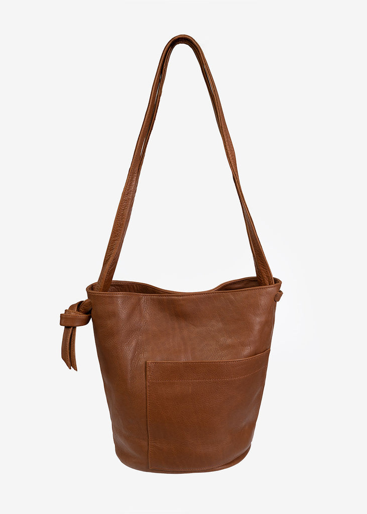 Caramel Crossbody Bucket Bag