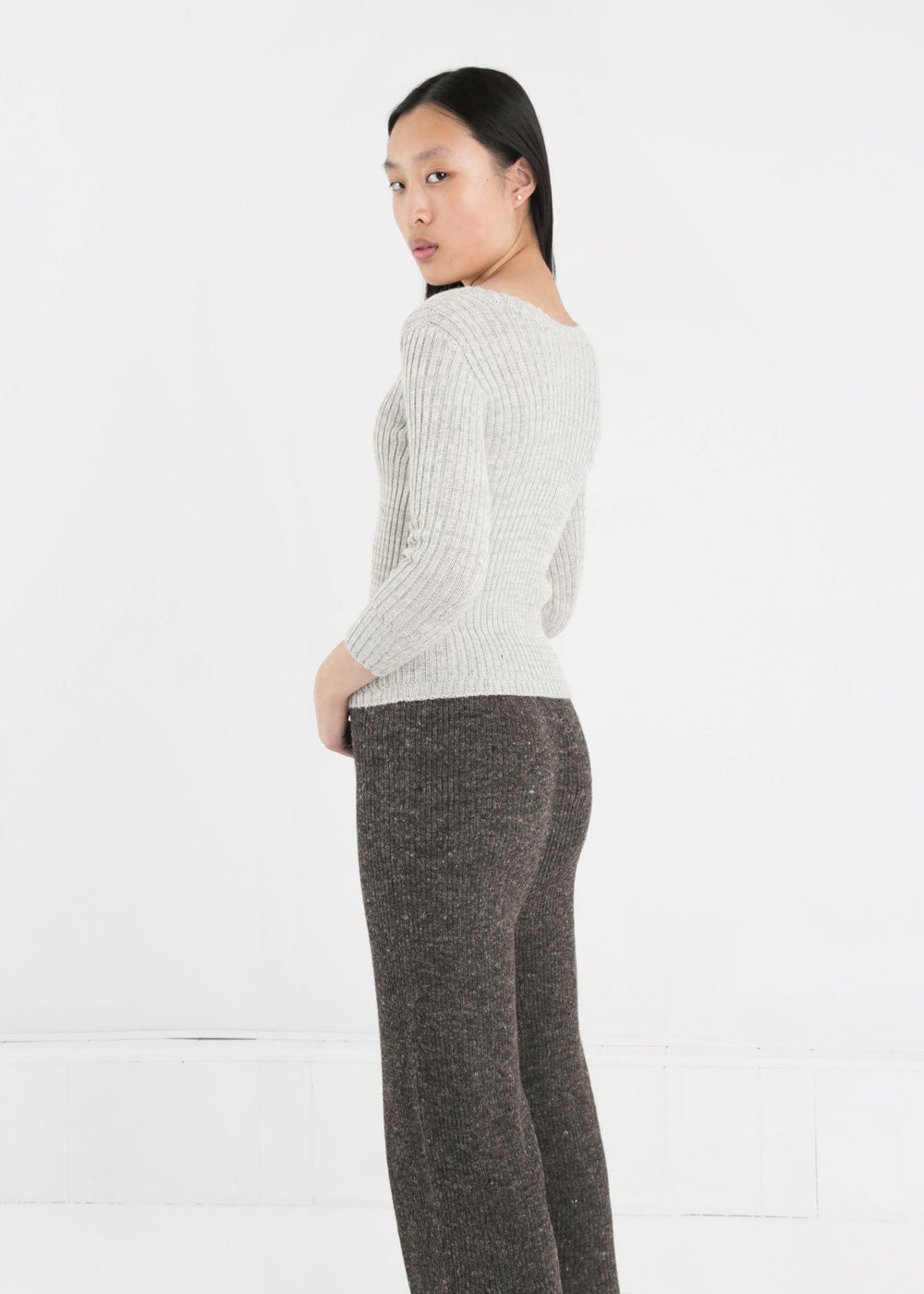 Été Noir Ribbed Knit Sweater — New Classics Studios