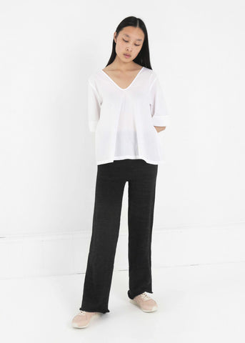 Heavyweight Knit Trousers