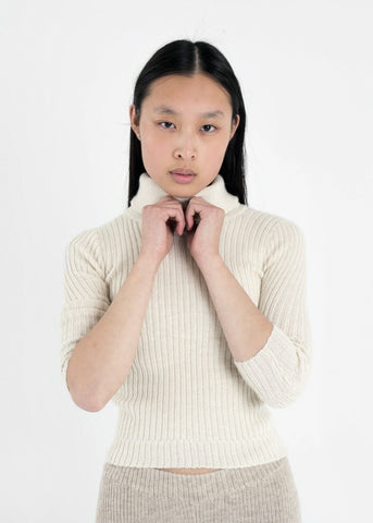 Ribbed Lightweight Turtleneck