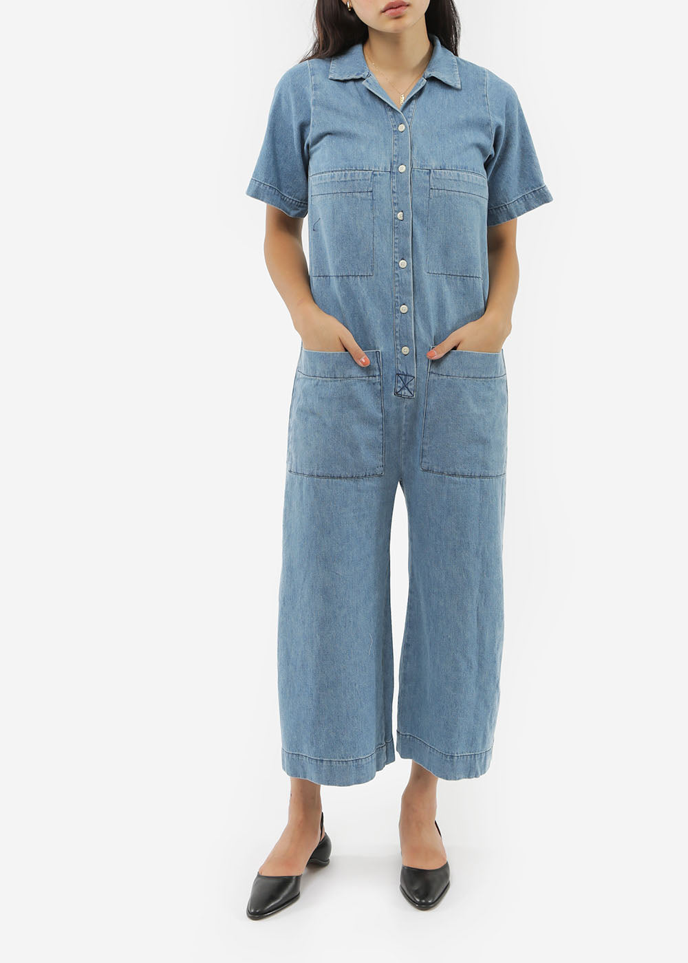 Ilana Kohn Denim Mabel Coverall — New Classics Studios