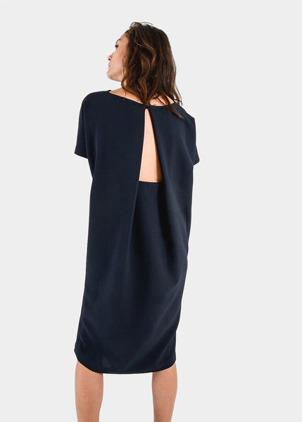 Kaarem Triangle Midi Dolman Open Back Dress — New Classics Studios