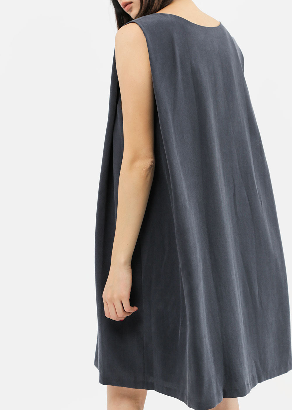 Kaarem Clouds Side Pleated Mini Dress — Shop sustainable fashion and slow fashion at New Classics Studios