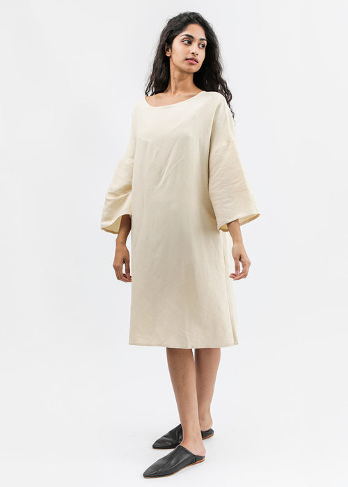 Kaarem Phoenix 3/4 Sleeve Boatneck Dress — New Classics Studios