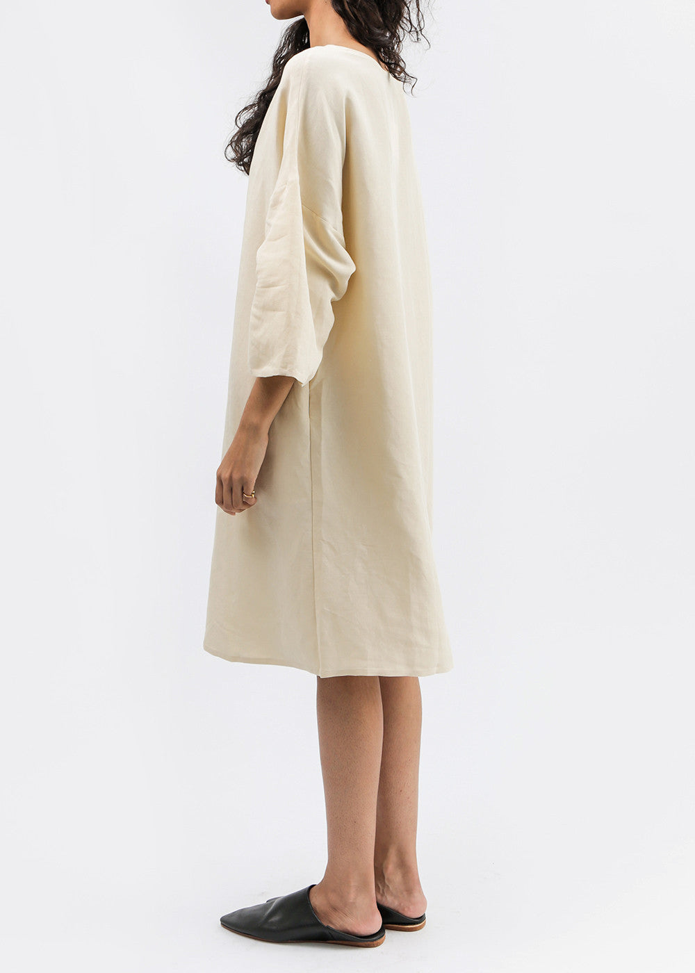 Kaarem Phoenix 3/4 Sleeve Boatneck Dress — Shop sustainable fashion and slow fashion at New Classics Studios