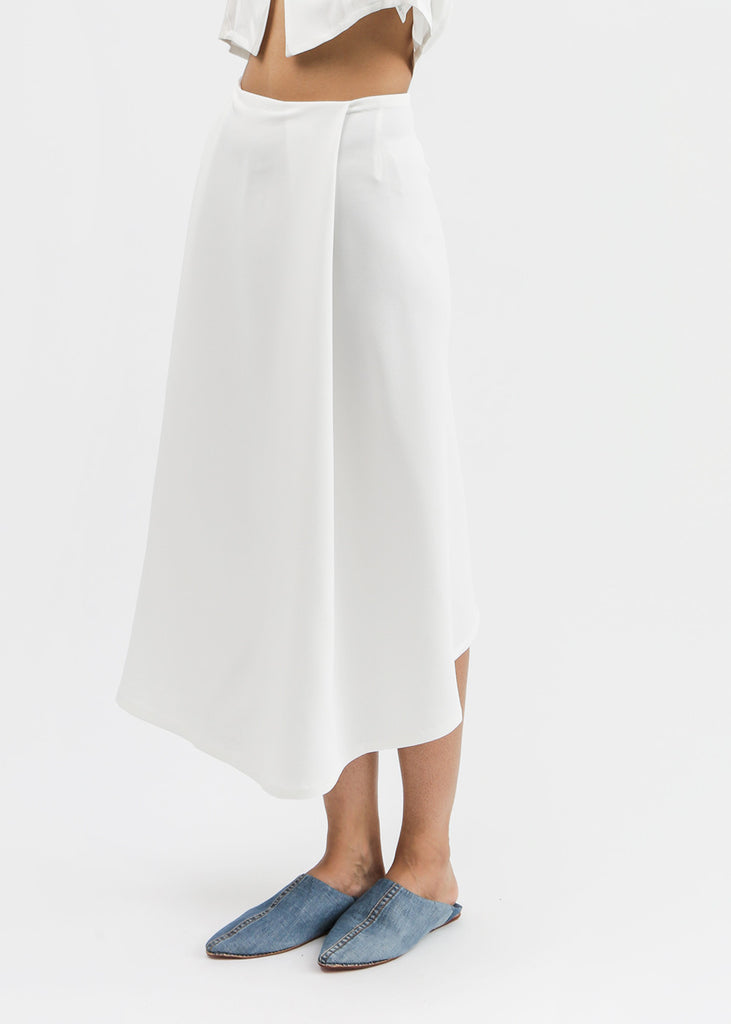 Kaarem Stream Deep Pleated Midi Skirt — New Classics Studios