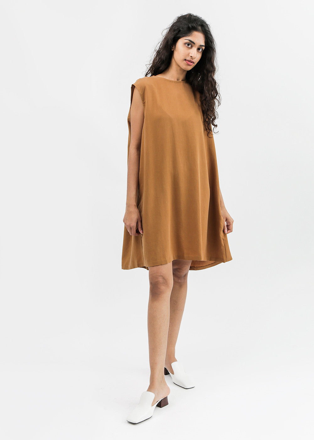 Kaarem Slab Back Pleat Sleeveless Dress — Shop sustainable fashion and slow fashion at New Classics Studios