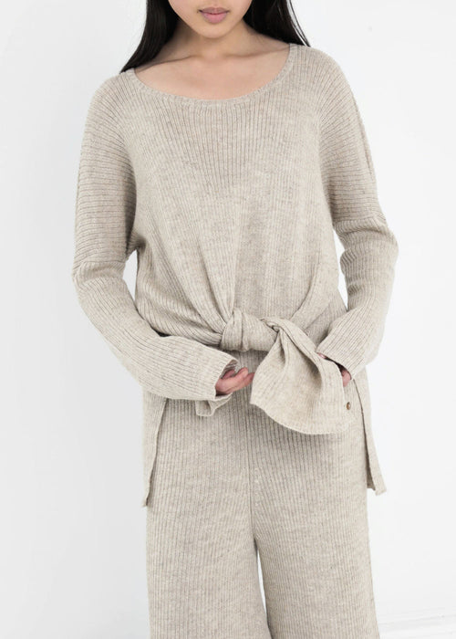 Kordal Knitwear Sand Grey Evelyn Sweater — New Classics Studios