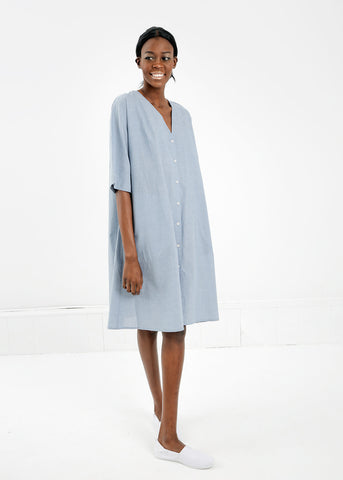 Domus Shirt Dress in Chambray
