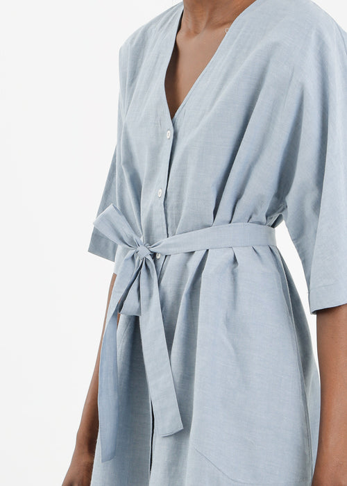 Kowtow Domus Shirt Dress in Chambray — New Classics Studios