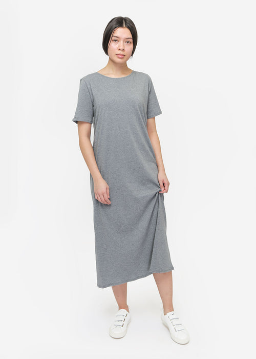 Kowtow Grey Building Block Tee Shirt Dress — New Classics Studios