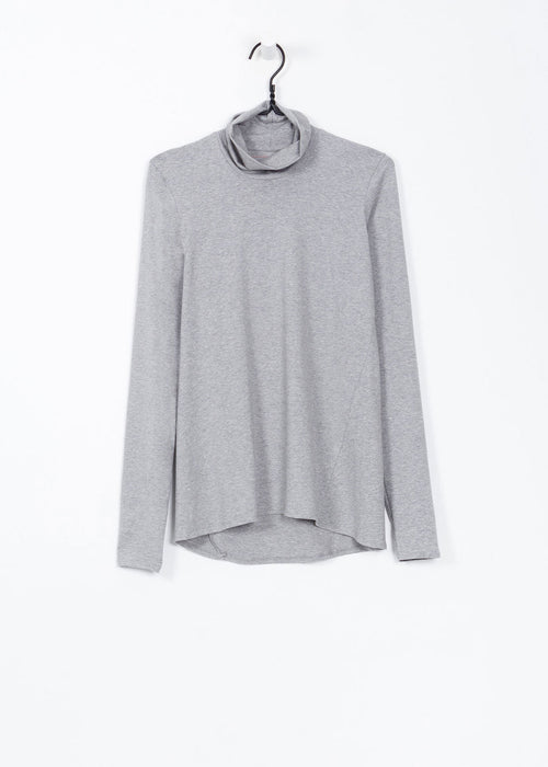 Kowtow Grey Marle Turtle Neck Top - New Classics Studios  - 1