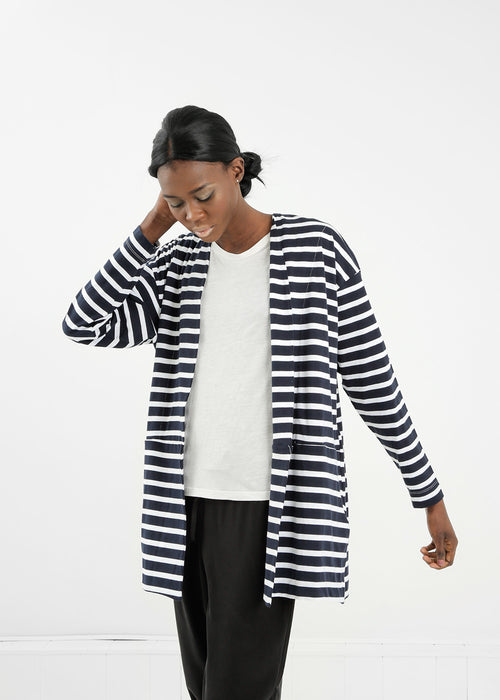 Kowtow Striped Nova Cardigan — New Classics Studios