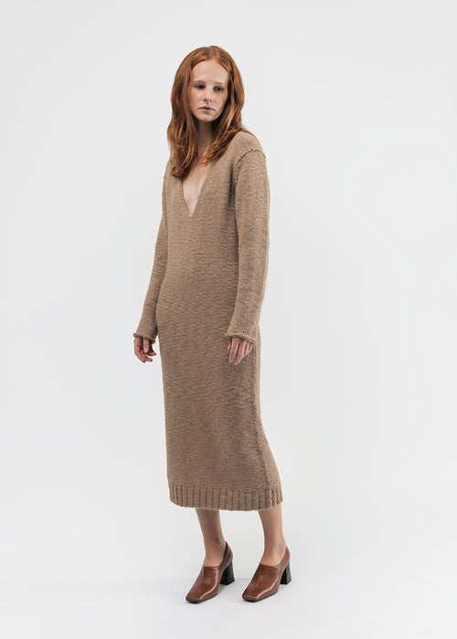 Lauren Manoogian Low V Dress — New Classics Studios