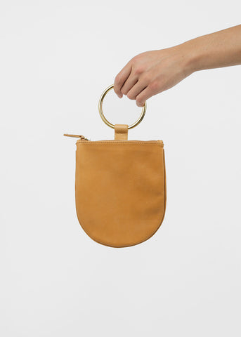 Medium Ring Pouch in Camel