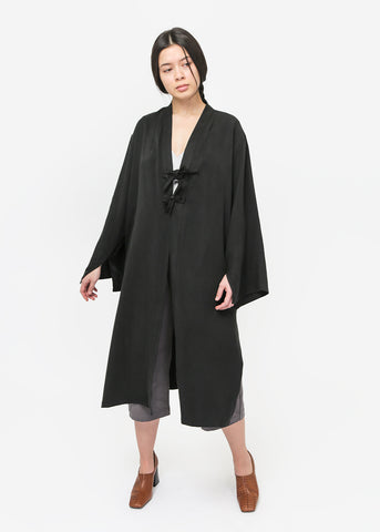 Black Long Shawl Cardigan
