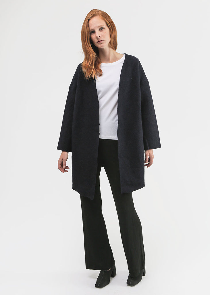 Priory Navy Ura Coat — Shop sustainable fashion and slow fashion at New Classics Studios
