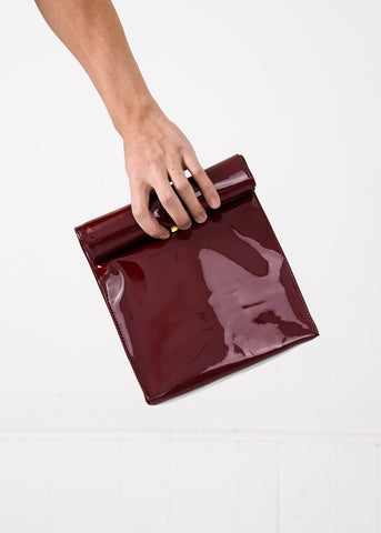 Burgundy Foldover Bag