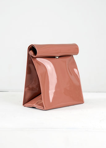 Dark Camel Foldover Bag