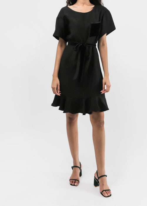 Flounce Hem T-shirt Dress