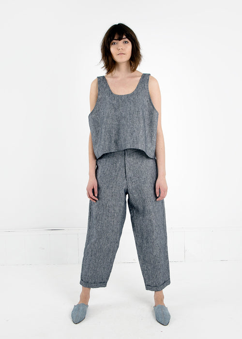 Study-NY Grey Stripe Oversized Tank Top — New Classics Studios