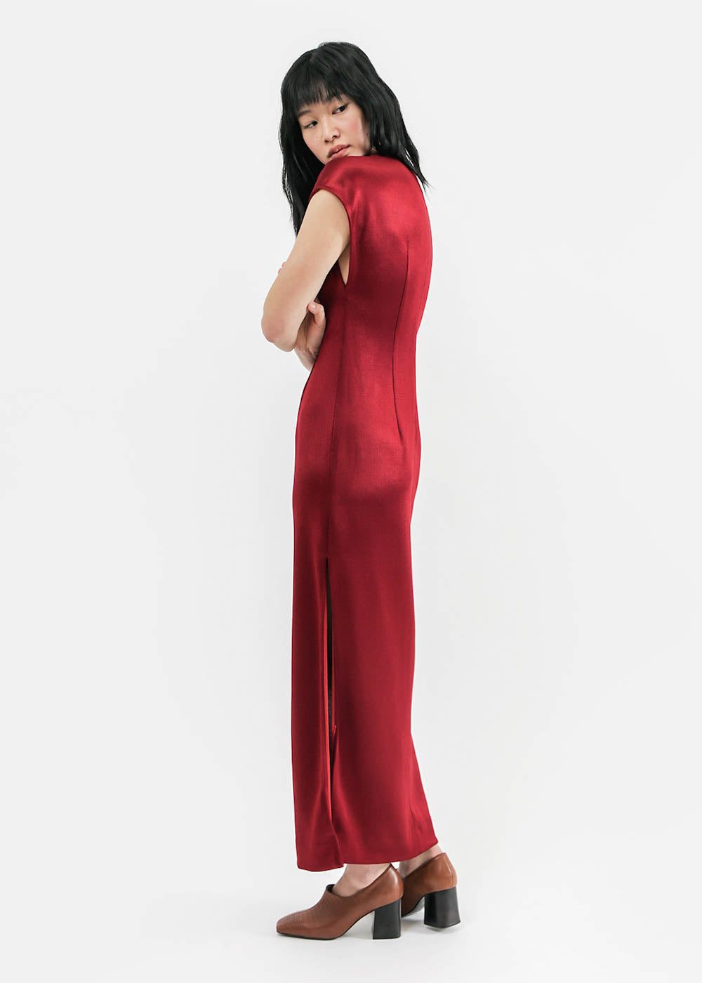 Suzanne Rae Jersey Dress with Slit — New Classics Studios