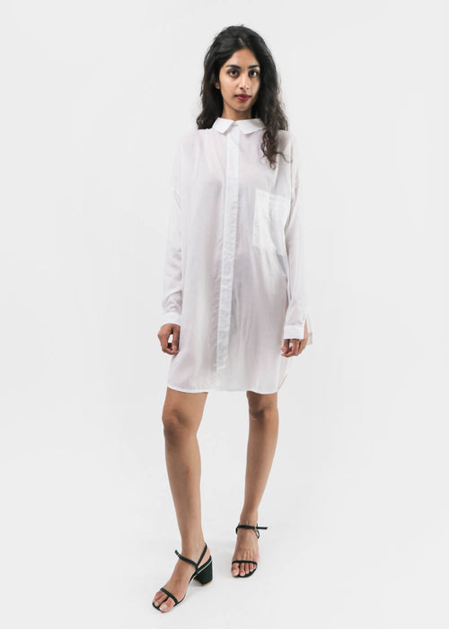 Oversized Button Back Collared Shirt