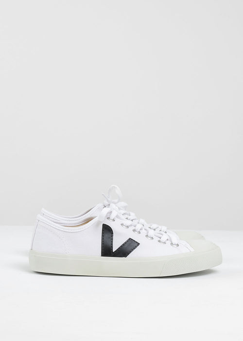 Veja White Black Wata Canvas Sneaker — New Classics Studios