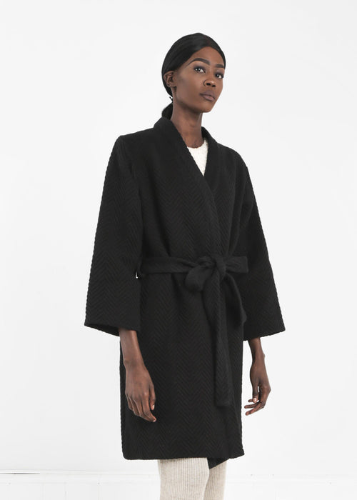 WRAY Black Mantle Robe Coat - New Classics Studios  - 1