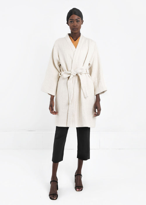 WRAY Natural Mantle Robe Coat - New Classics Studios  - 1