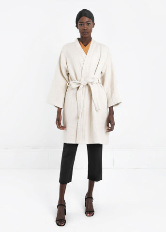 Natural Mantle Robe Coat