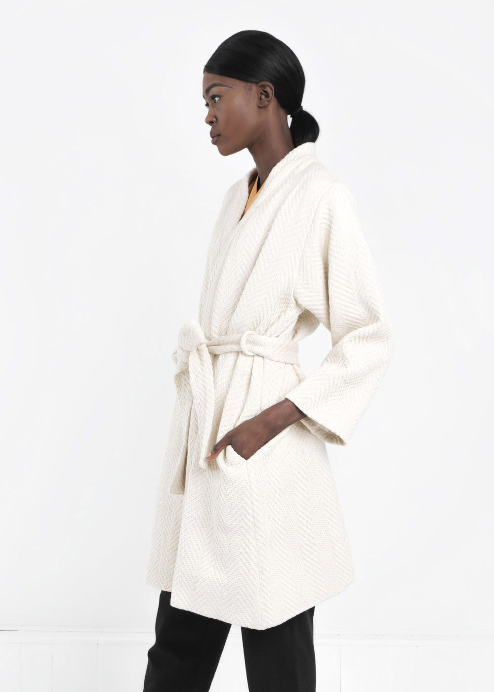WRAY Natural Mantle Robe Coat - New Classics Studios  - 5