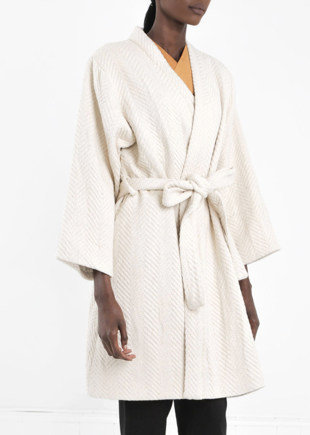 WRAY Natural Mantle Robe Coat — Shop sustainable fashion and slow fashion at New Classics Studios