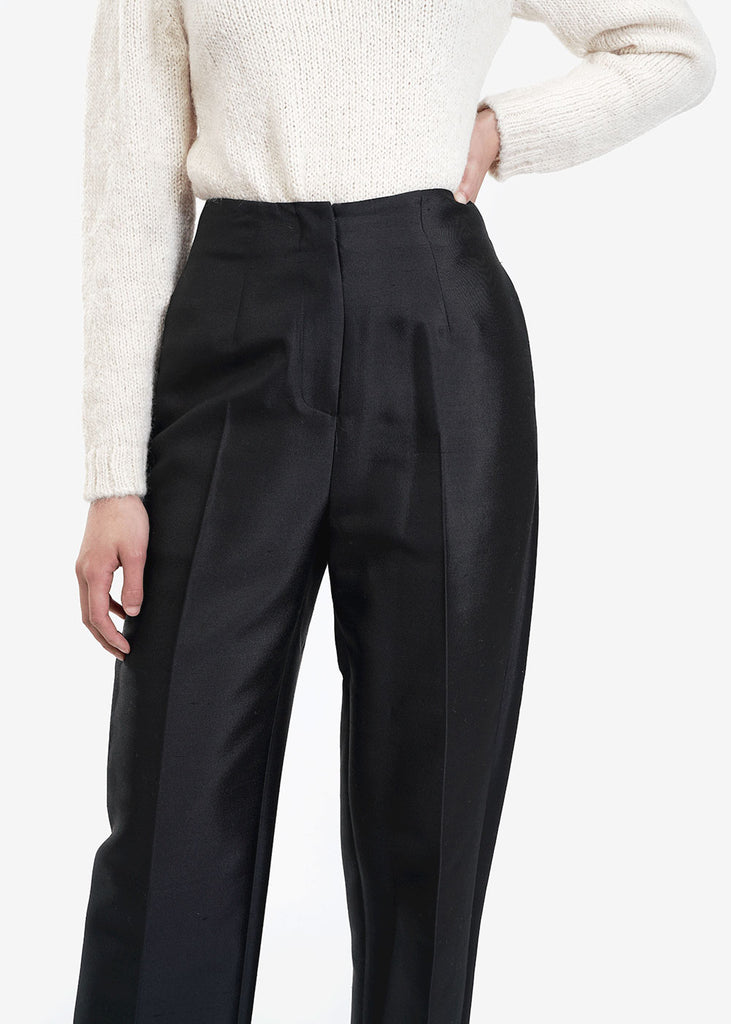 AMOMENTO Silk Structured Pants — Shop sustainable fashion and slow fashion at New Classics Studios
