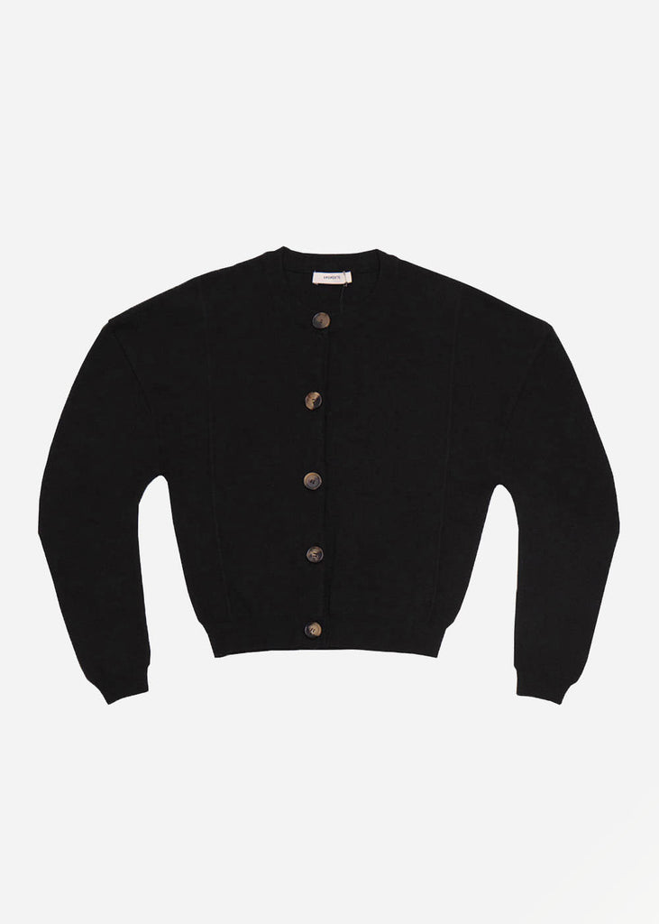 AMOMENTO Black Volume Cardigan — Shop sustainable fashion and slow fashion at New Classics Studios