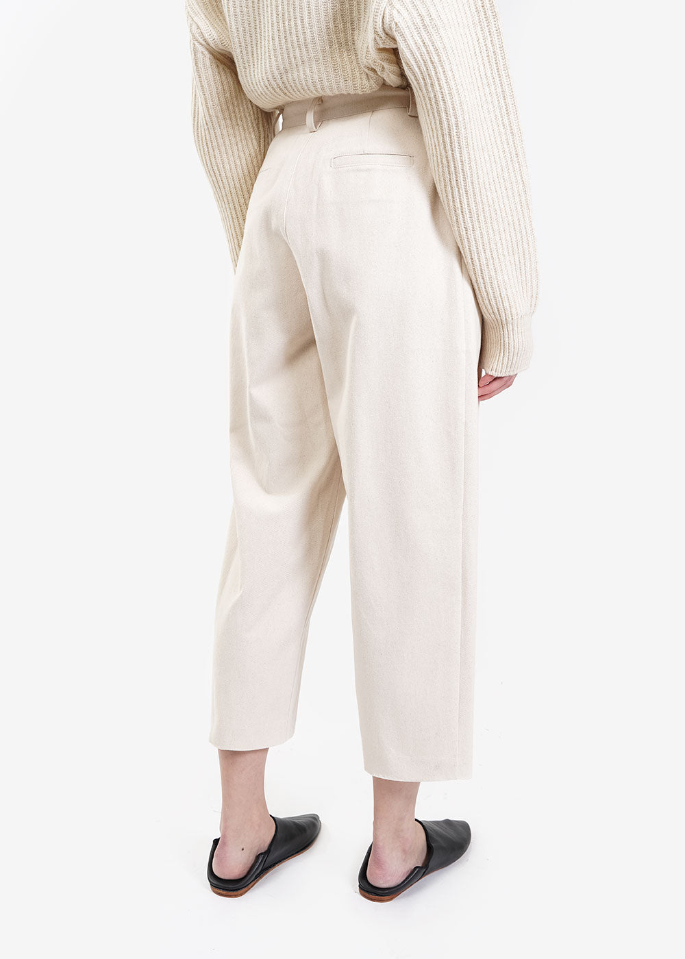 AMOMENTO Ecru Garconne Pants — Shop sustainable fashion and slow fashion at New Classics Studios
