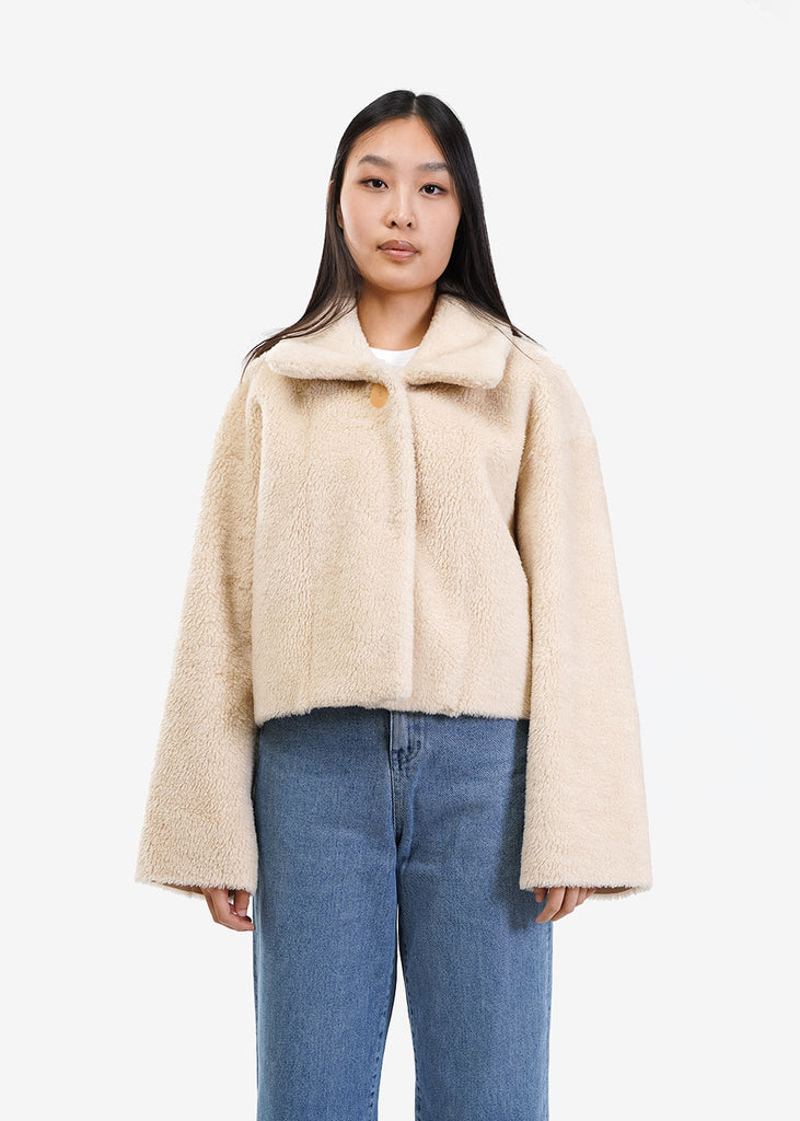 Shearling Button-Up Jacket - New Classics Studios