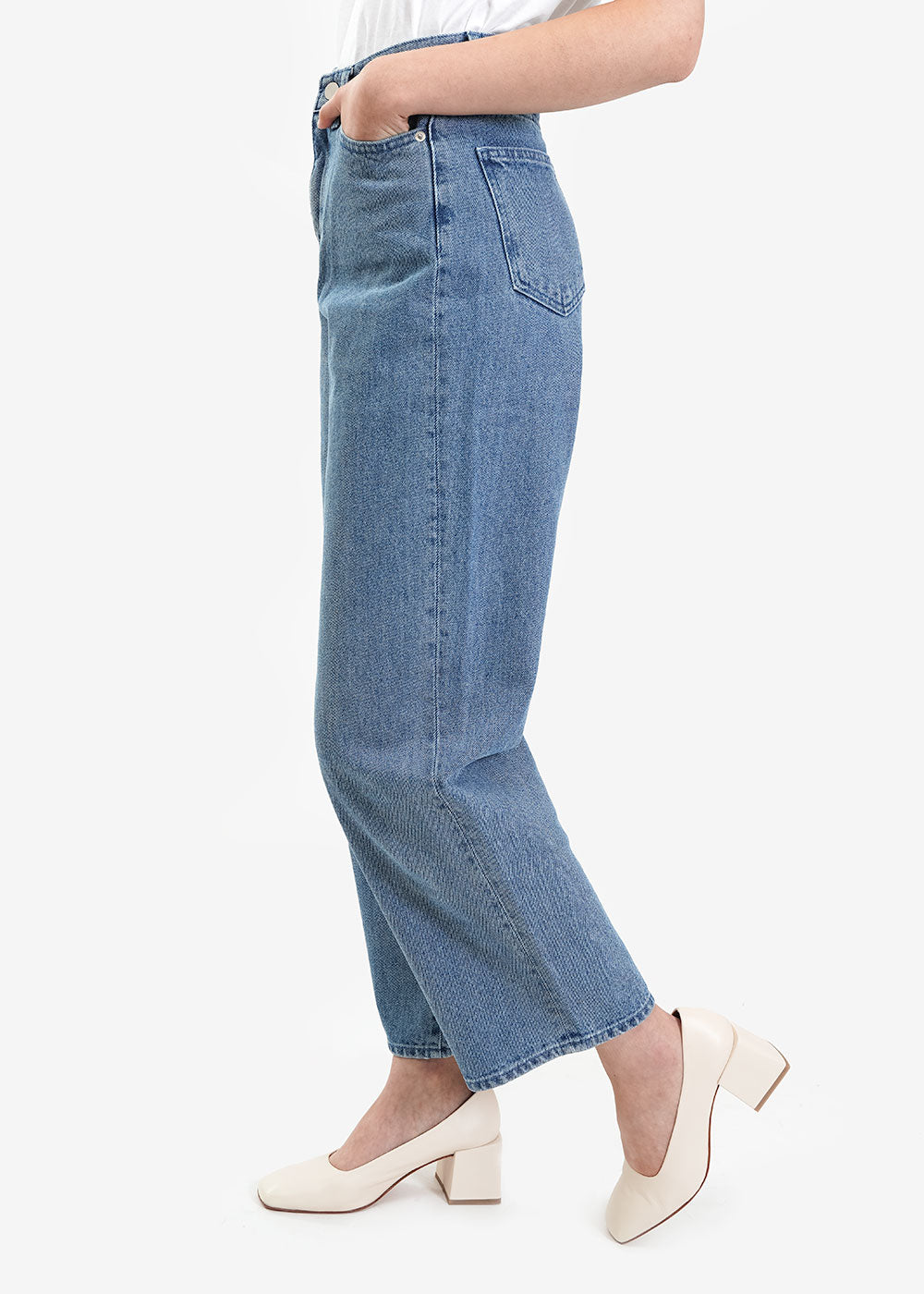 AMOMENTO Wide Fit Denim Jeans — Shop sustainable fashion and slow fashion at New Classics Studios