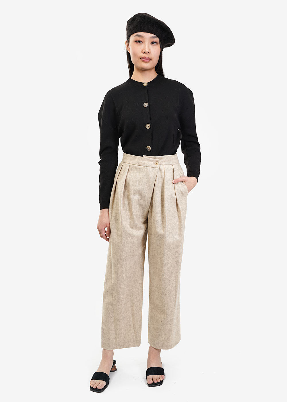 AMOMENTO Wool Wrap Pants — Shop sustainable fashion and slow fashion at New Classics Studios