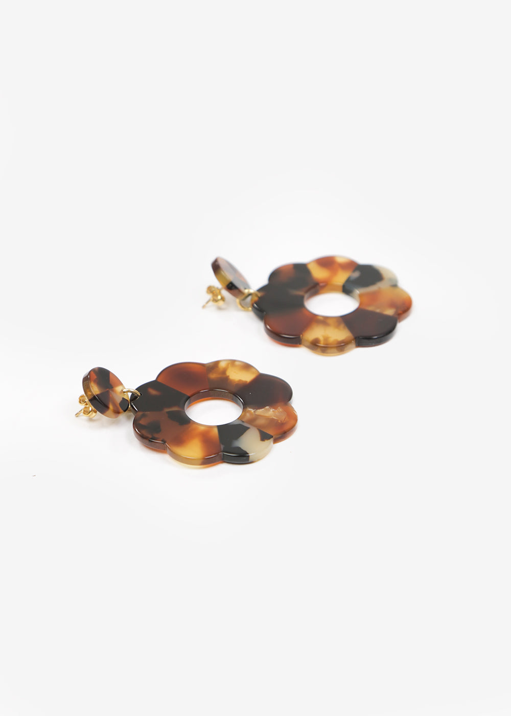 Après Ski Flore Tortoise Earrings — New Classics Studios