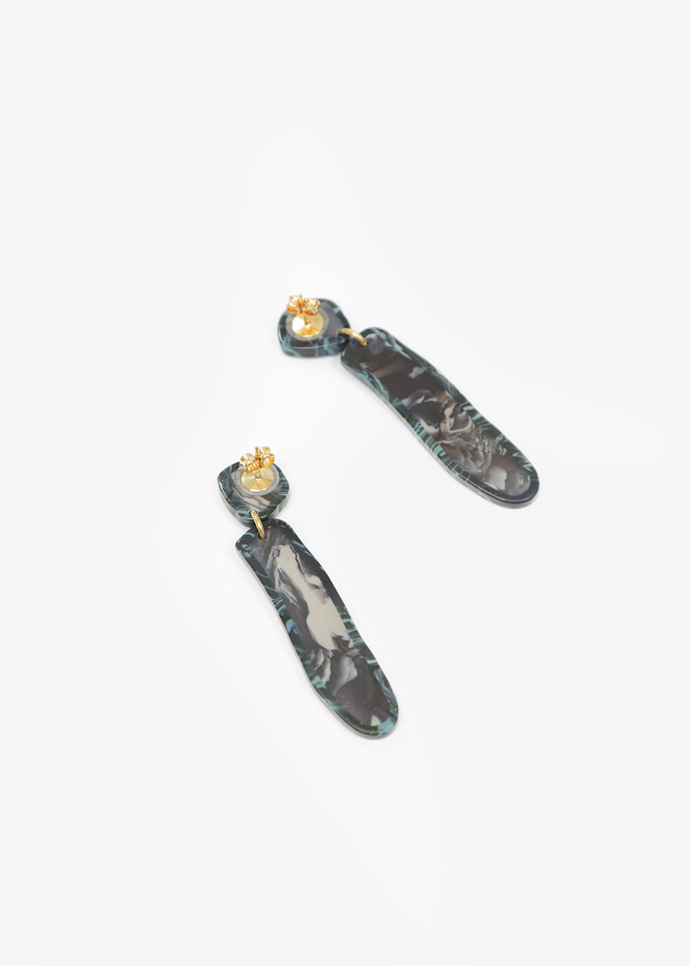 Après Ski Flos Marble Grey Earrings — New Classics Studios