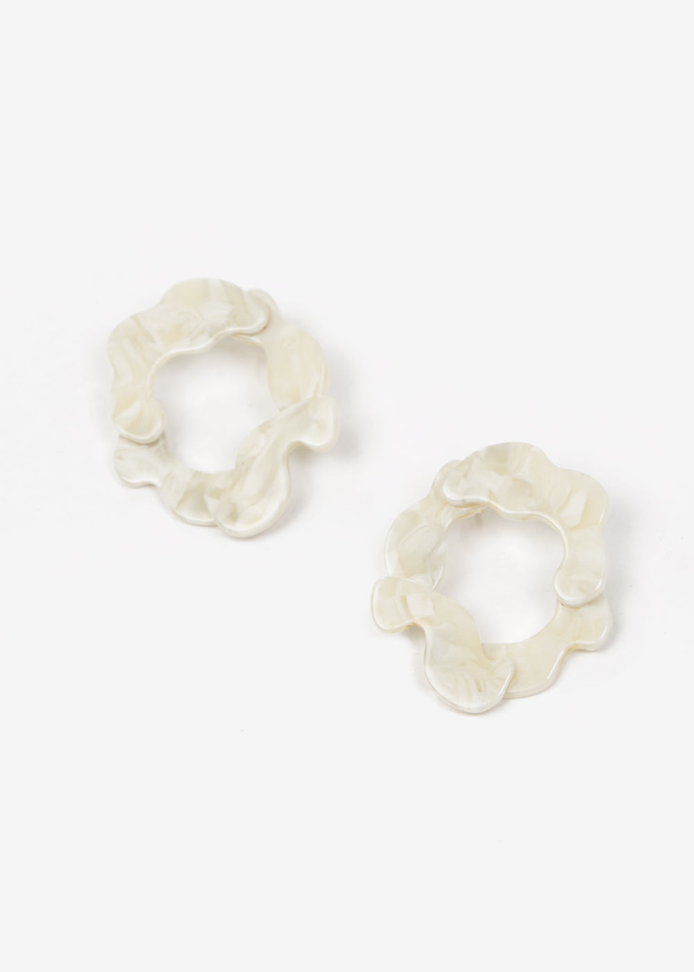 Après Ski Imbali Marble White Earrings — New Classics Studios