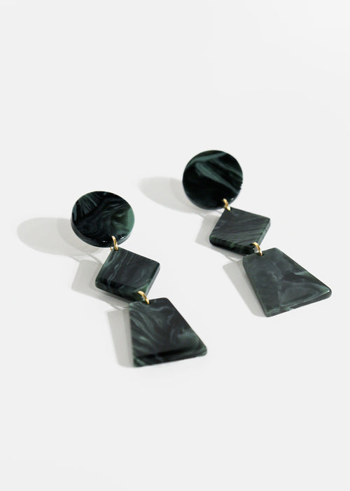 Marble Green Lupinus Earrings