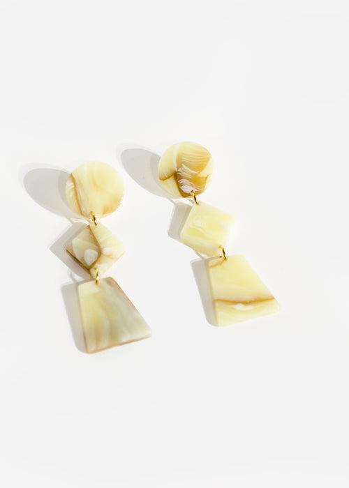 Après Ski White Lupinus Earrings — New Classics Studios