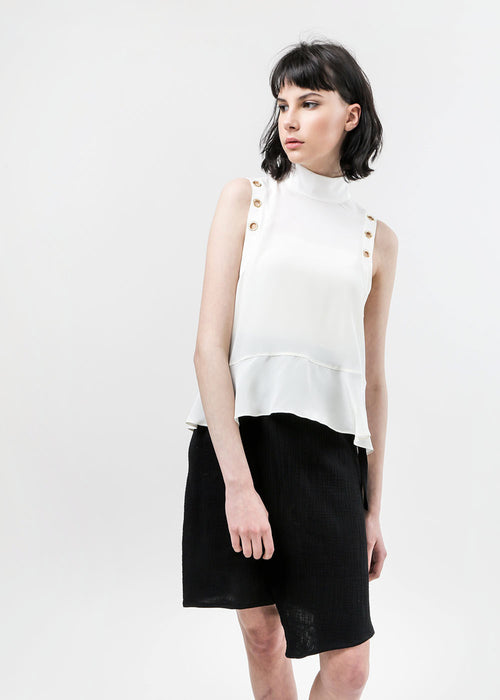 Arcana NYC Eyre Lace-Up Blouse — New Classics Studios