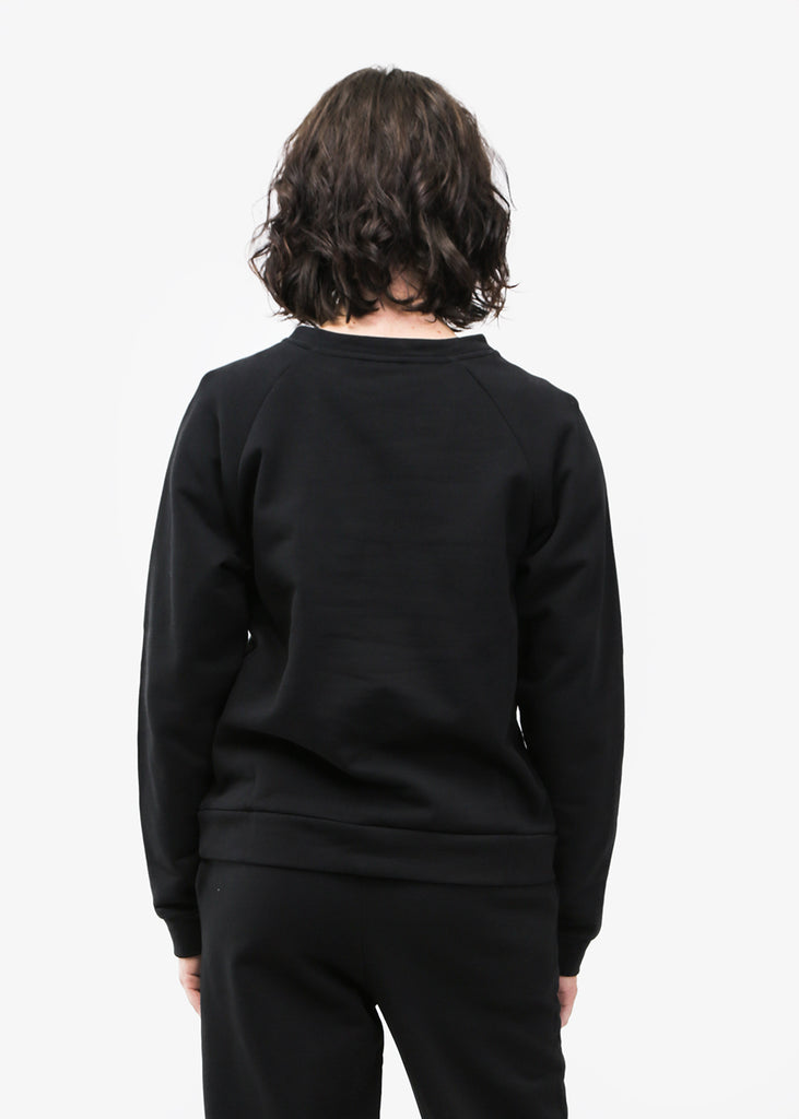 Baserange Black Basic Sweat — Shop sustainable fashion and slow fashion at New Classics Studios