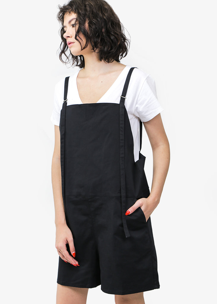 Baserange Canvas Short Strap Overalls — Shop sustainable fashion and slow fashion at New Classics Studios