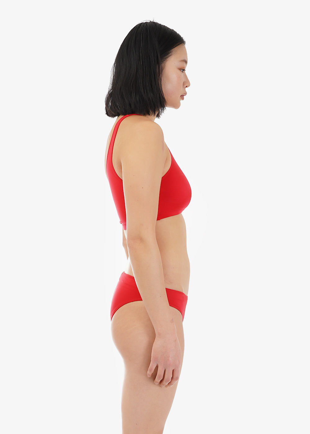 Baserange Blood Red Una Swimtop — Shop sustainable fashion and slow fashion at New Classics Studios