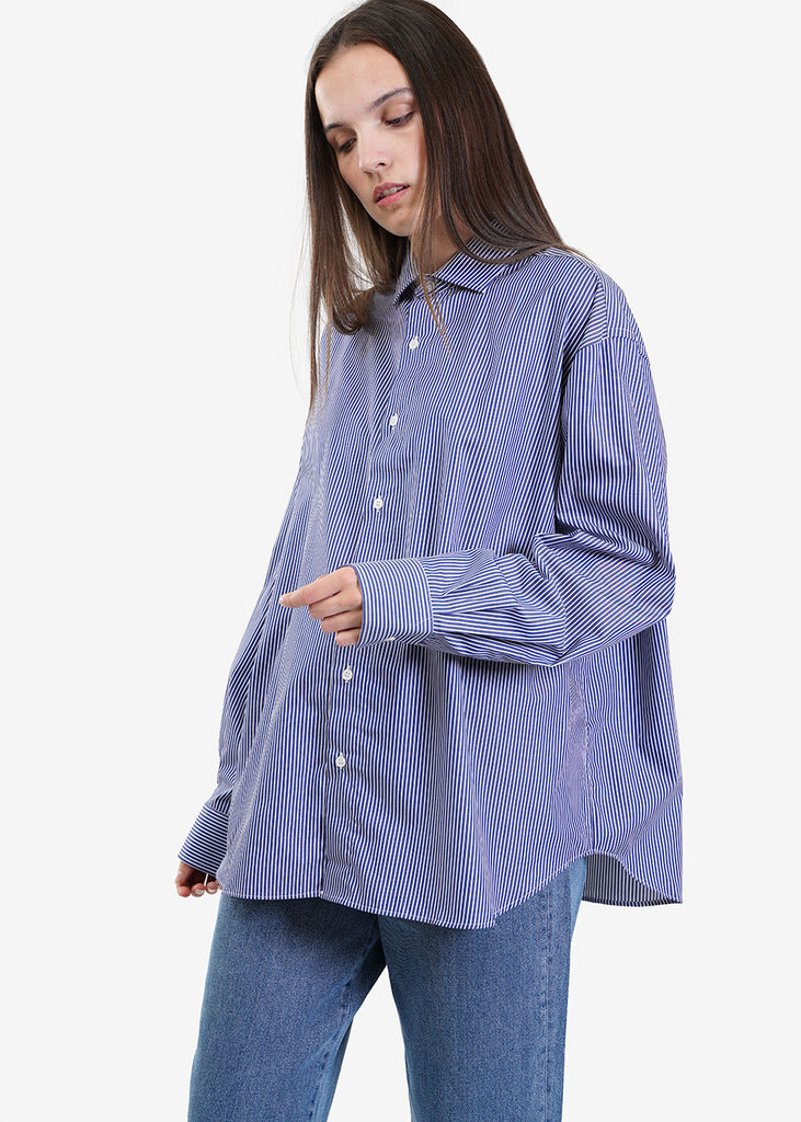 Baserange Blue Stripe Ole Shirt — Shop sustainable fashion and slow fashion at New Classics Studios