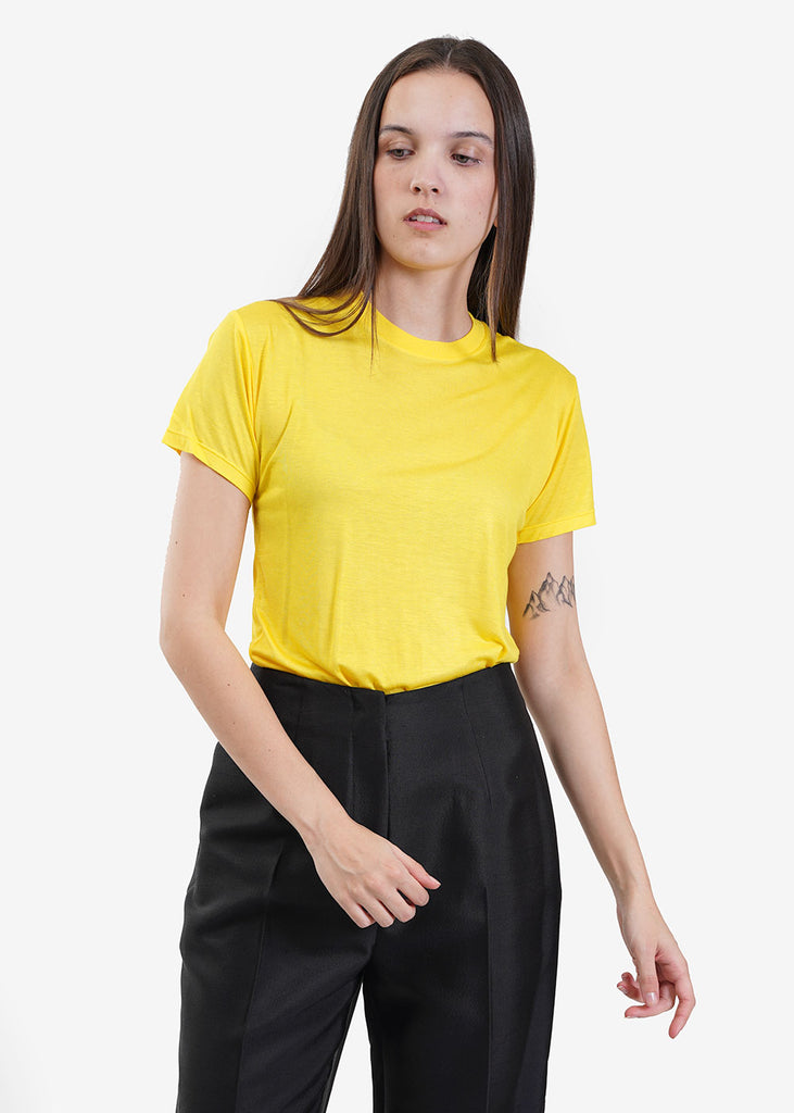 Baserange Braid Yellow Tee Shirt — Shop sustainable fashion and slow fashion at New Classics Studios